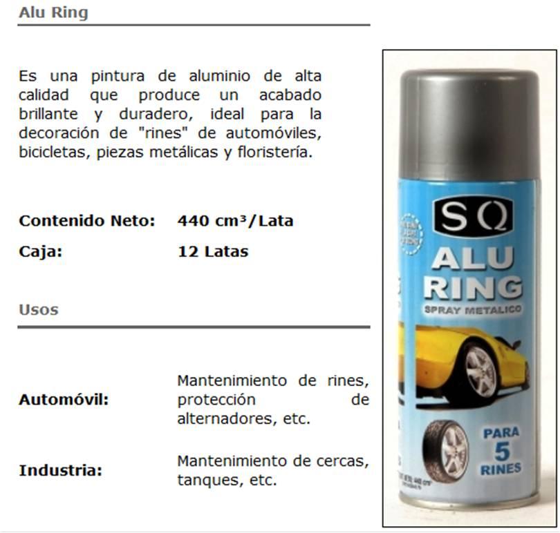 ALU RING SPRAY METALICO 440 CC SQ